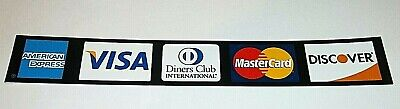 Credit Card Decal Sticker 2 Sided - Mastercard Visa Amex Discover Diners Club