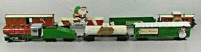 Life Like HO Christmas Train Set Custom Painted Locomotive + 6 Cars & Tender