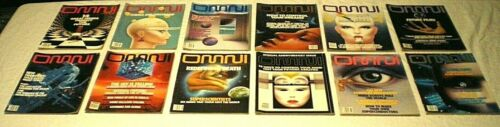 Vtg 1987 OMNI Science Fiction Magazine JAN-DEC All 12 Issues FREE PRIORITY SHIP!