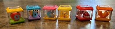 Fisher Price Peek-A-Boo Interactive Alphabet Blocks – ABC Sensory Toy Lot of 6