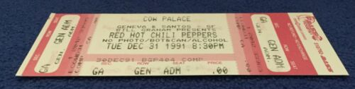 NIRVANA ORIGINAL 1991 NEW YEARS CONCERT TICKET PEARL JAM RED HOT CHILI PEPPERS