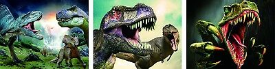 3D Lenticular Poster - 3 dinosaurs -12x16 Print Animated - 3 prints in 1