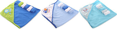Honey Baby Boys Hooded Towel & 5-Pack Washcloth BRAND NEW!!!!!
