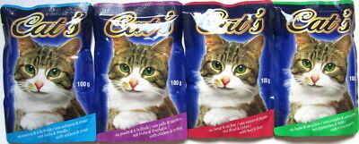 264 x 100g Katzenfutter Mix diverse Sorten Pouchbeutel