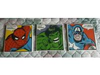 Super Hero canvas x3