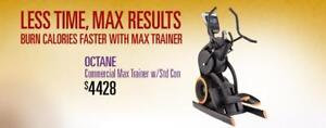 OCTANES  MAX HIIT TRAINER  AT LONDONS # 1 FITNESS SUPER STORE ON SALE DRIVE A LITTLE SAVE A LOT!!!