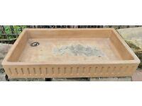Large Old Ceramic Butler Sink - Suitable for garden use.