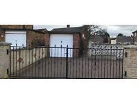 Wrought Iron Driveway or Garden Gates - Black Metal with Brackets, Hinges and Catch Plate. £400 ono.