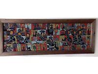 Set of 4 Indonesian Batik Paintings