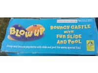 SOLD Inflatable Bouncy Castle With Fun Slide and Pool ELC 3+ (2 for 1)