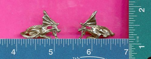 100 wholesale pewter laying dragon figurines m11094