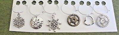 Wine Charms Set Of 6 Unique Charms Fun with Round Things