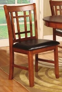 Set of 2 Oak Wood Dining Chairs