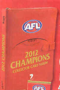 2012 AFL Select Champions officiial album and pages