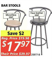 6 BAR STOOLS - NEVER USED