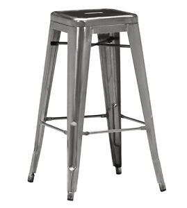 INDUSTRIAL TOLIX STYLE METAL BAR STOOL COUNTER STOOL ARMCHAIR