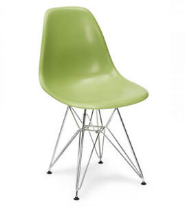 Eames Eiffel chairs in Green and Blue