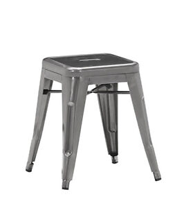 RESTAURANT INDUSTRIAL METAL COUNTER STOOL BAR STOOL DINING STOOL