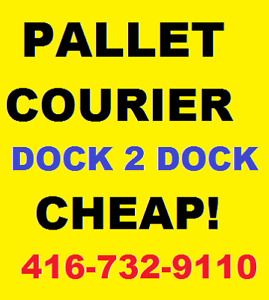 GTA SAME DAY SKID PALLET COURIER SERVICES-DOCK TO DOCK DELIVERY