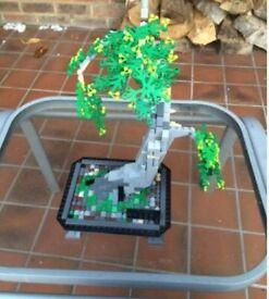 Lego custom made bonsai tree, parts worth £150+
