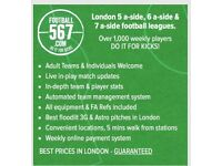 KENNINGTON 5 A-SIDE FOOTBALL LEAGUE - ONLY £38 - BEST PRICES IN LONDON