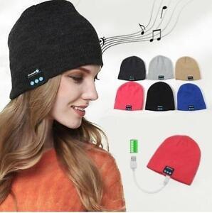 Wireless Bluetooth Hot Cap with Musicphone Speakerphone Stereo  Headphone Headset Earphone Speaker Mic