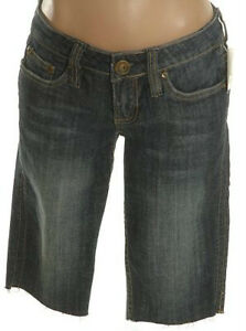 Denim Bermuda Jean Shorts - Size Juniors 1 - Waist 28 - NEW