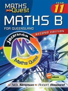 Maths Quest Maths B Year 11 for Queensland 2E & eBookPLUS Carindale Brisbane South East Preview