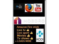 Amazon Fire stick kodi 16.1 and mobdro installed
