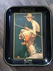 Coca-Cola  Norman Rockwell 13 X 10.5 inches Tray