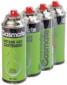 Gasmate Butane Gas Cartridges 4 pack