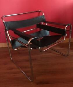 "Iconic Mid-Century ""Wassily"" seamless Chair - Auction THIS SAT."