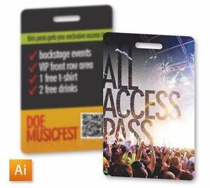 ID Access Card printing as low as $0.10/ea. Free design available!