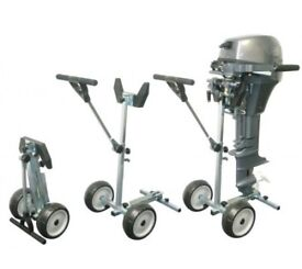 FOLDING OUTBOARD ENGINE TROLLEY - TRANSPORT / STORAGE UP TO 15hp