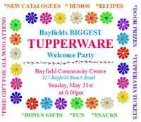 Bayfields BIGGEST Tupperware Welcome Party