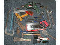 Collection of various tools for sale.