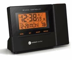 Ambient Weather RC-8427 Clearview Radio Controlled Projection Clock with Indoor
