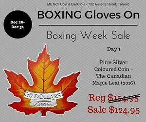 BOXING WEEK ! Silver Coloured Coin – The Canadian Maple Leaf