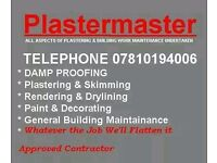 FOR ALL YOUR PLASTERING NEEDS,GIVE ME A CALL FOR A FREE NO OBLIGATION QUOTE,
