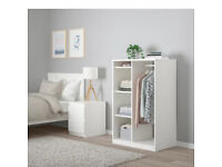 Like New, Ikea Syvde Open Wardrobe, Clothes Hanging Rail, Shelves