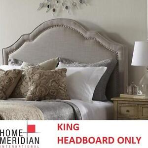 NEW TAUPE KING HEADBOARD DS-2286-270 142299408 HOME MERIDIAN INTERNATIONAL