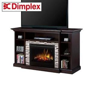 NEW* FIREPLACE ENTERTAINMENT UNIT GDS25L5-1252E 219051122 DIMPLEX COURTYARD ELECTRIC 25'' FIREBOX ESPRESSO