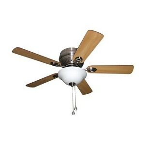 BNIB: Harbor Breeze 44-in Brushed Nickel Ceiling Fan with Light