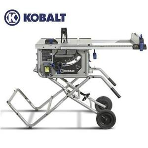 NEW KOBALT TABLE SAW 10'' 15 AMP KT1015 176264852 FOLDING STAND