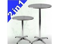 ***STYLISH BISTRO AND STANDING TABLE*** HEIGHT ADJUSTABLE AND FOLDABLE / Garden Party Bar Cafe etc