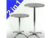 ***BISTRO AND STANDING TABLE - HEIGHT ADJUSTABLE AND FOLDABLE / Bar Cafe Garden Party etc***