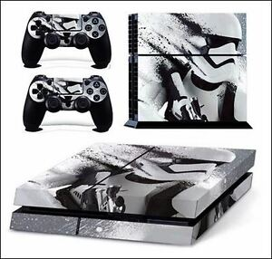 DECAL VINYL SKIN PROTECTION STICKER STAR WARS STORMTROOPER PS4