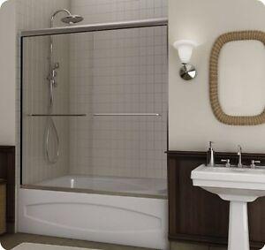 Glass doors for bathtub 60 inch