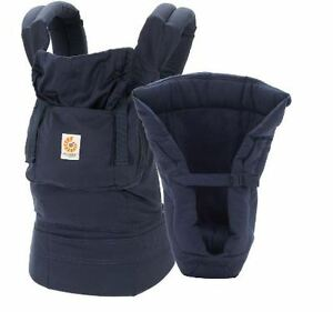 Baby carrier ERGO BABY porte-bébé with infant insert navy blue