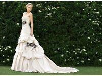 Essense of Australia Champagne Wedding Dress Size 12